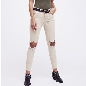 free people • busted knee skinny jeans